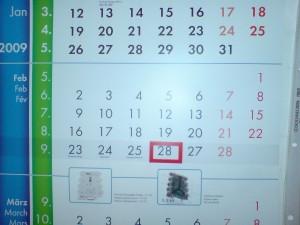 Kalender kann nicht zählen