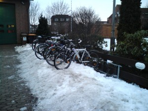Fahrradständer im Winter