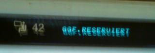 GGf. Reserviert