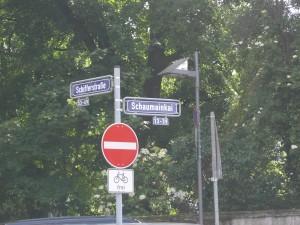 Strassenschild am Schaumainkai